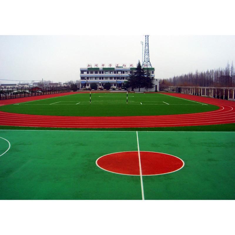 小區塑膠跑道廠家_煌盛體育_混合型_生態園_預制型_學校_中學