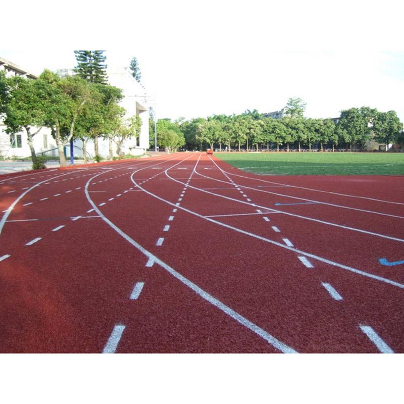 小區塑膠跑道生產廠_煌盛體育_透氣型_EPDM_中小學_預制型