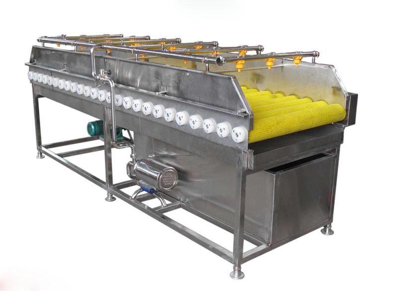 厂家直销土豆芋头类毛辊清洗机