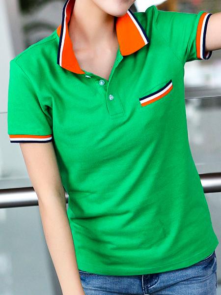 綠色T恤衫