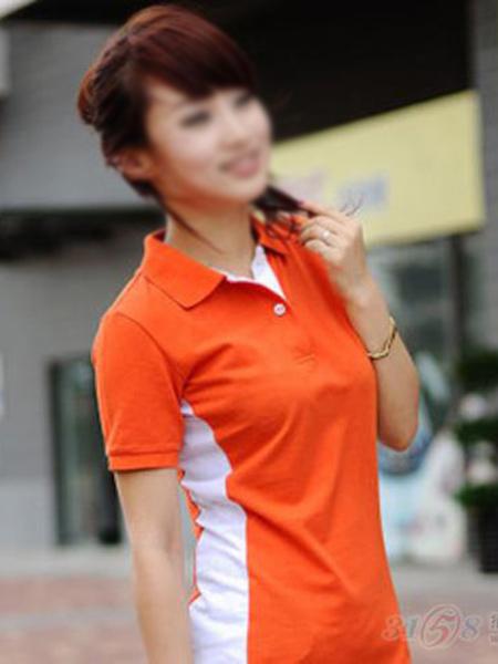 橙色T恤衫