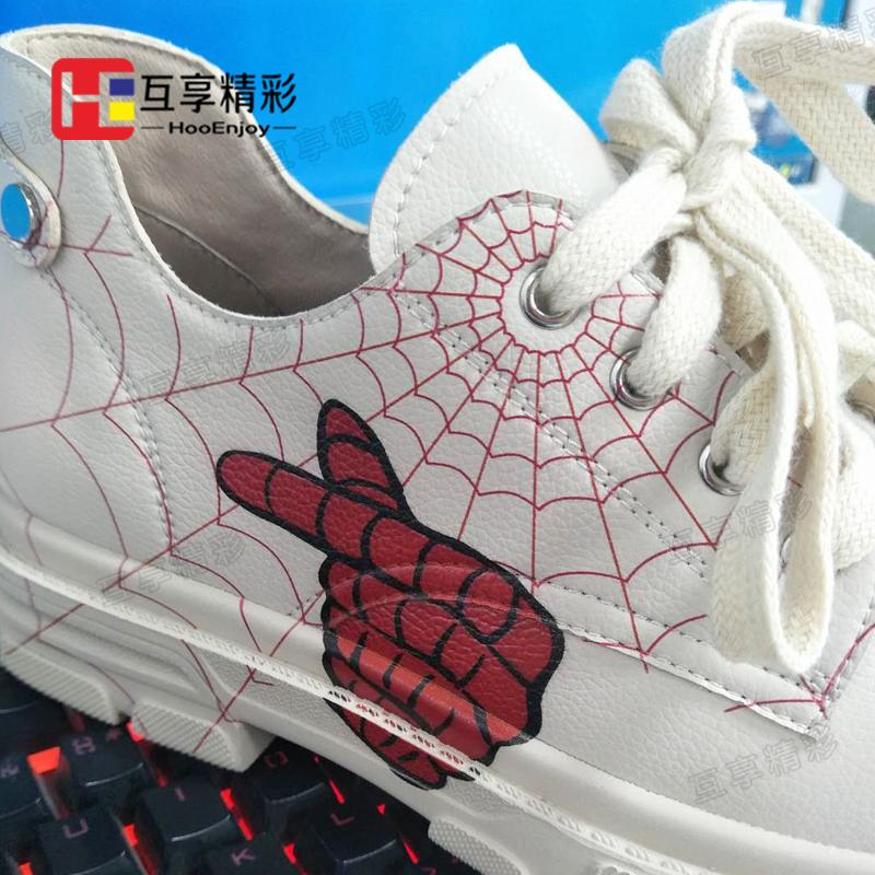 皮革馬丁靴鞋子打印效果