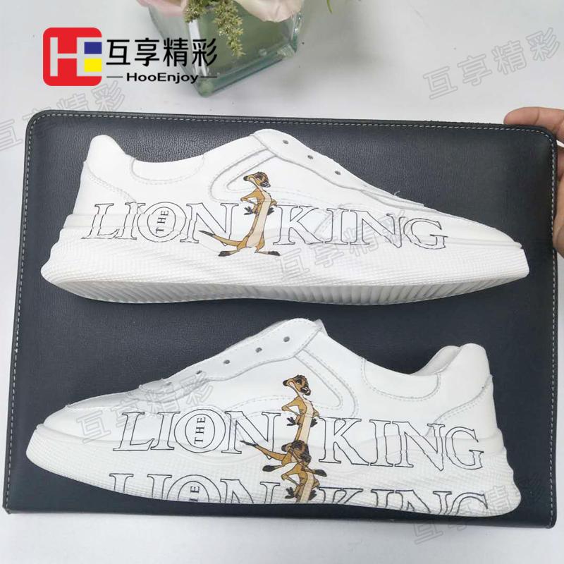 小白鞋個性圖案定制打印加工