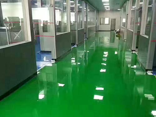 環氧防靜電平涂地坪施工