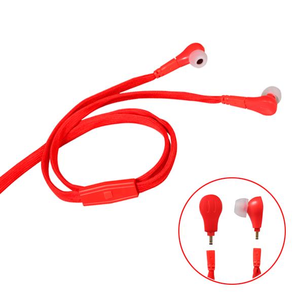 2017 新款IPX7防水带麦鞋带耳机 服装辅料耳机 可洗可拆