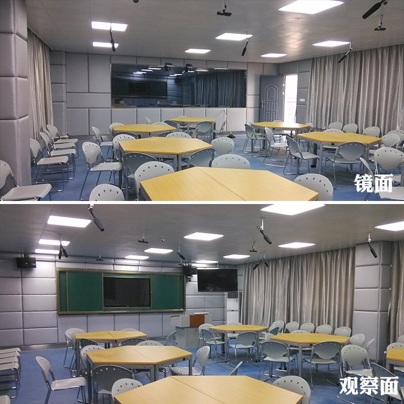 江玻学校录播教室 单向透视玻璃 单面透视玻璃 单向