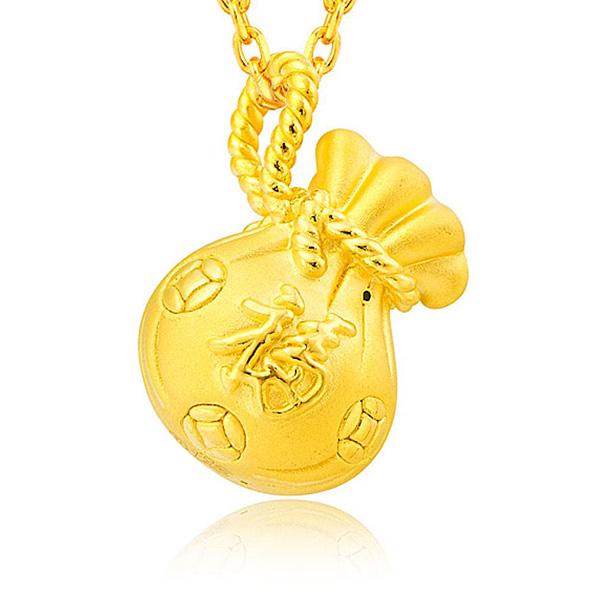 福袋黃金吊墜