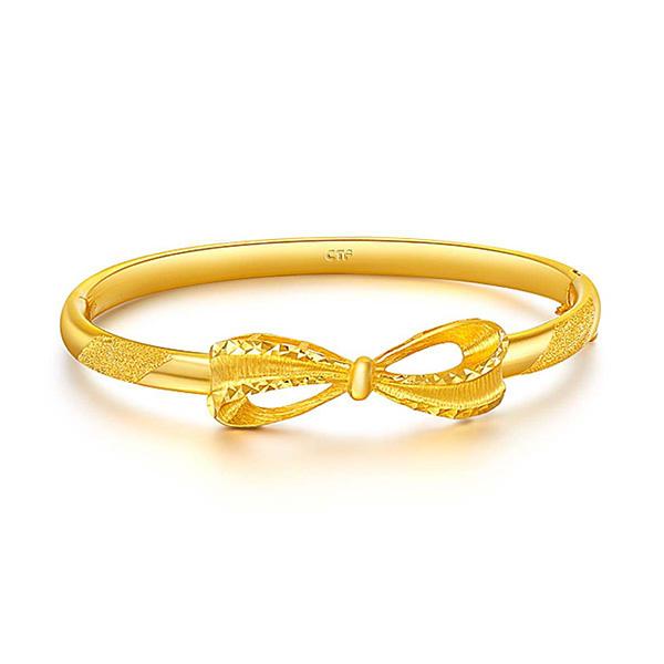 蝴蝶結黃金手鐲