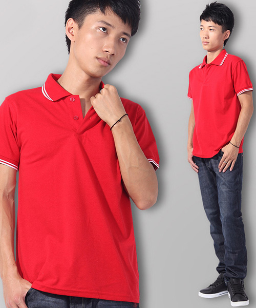 红色polo衬衫