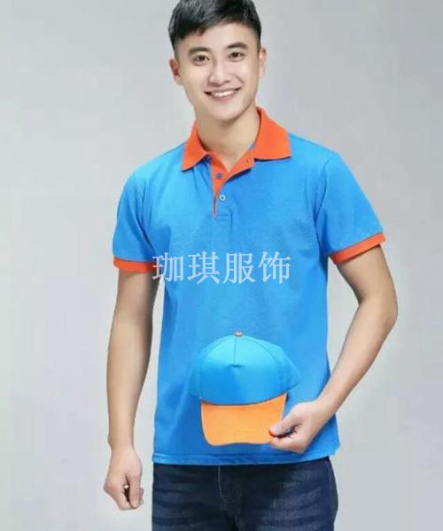 蓝色polo衫