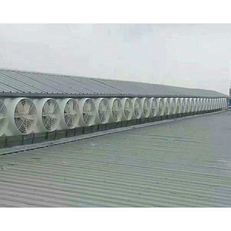 食品厂玻璃钢风机安装_仲达机电_车间降温_干燥机用_柜式