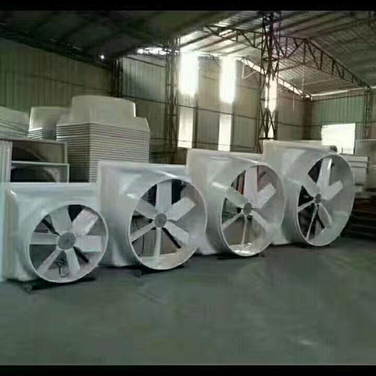 廠房玻璃鋼風機生產廠家_仲達機電_通風降溫_寺廟用_手袋廠