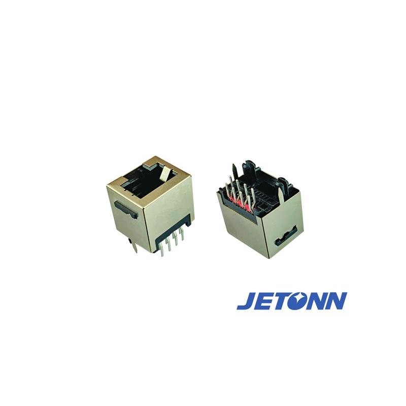 乐清RJ45网线防水接连器_捷通电子_45度RJ11_网络模块