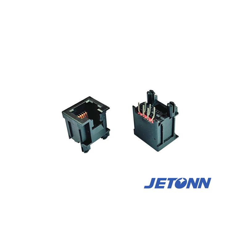 中山贴片RJ11母座加工_捷通电子_超薄式_双层网络插座
