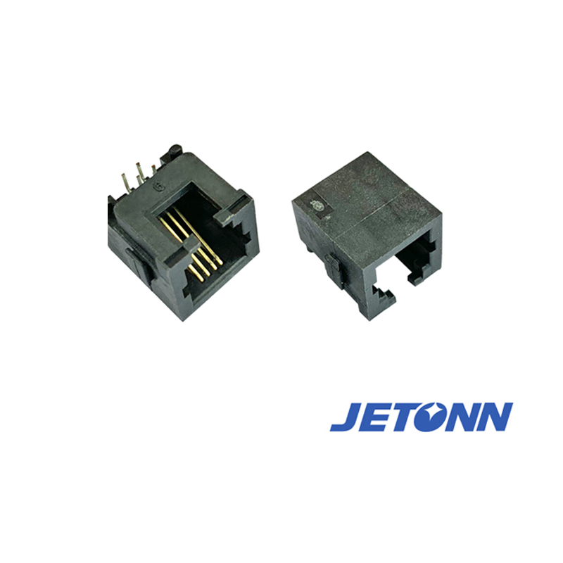 捷通电子_批发_中山定做RJ11-4P4C电话插座