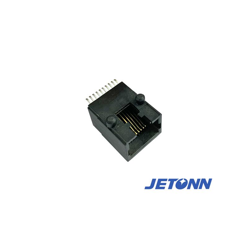 东莞沉板式RJ11接连器_捷通电子_电脑_8P8C_10P10C