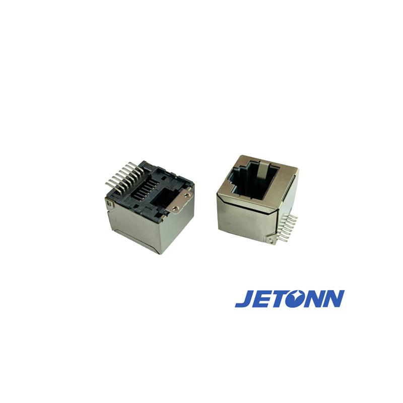 捷通电子_超薄式网络_珠海RJ45防水插座代工