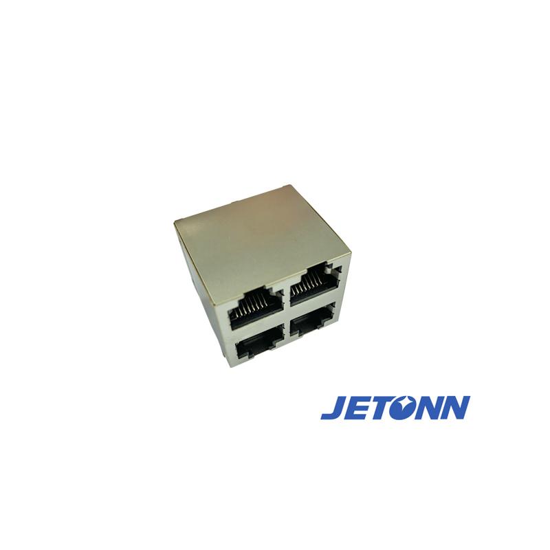 深圳SMT接连器品牌_捷通电子_贴片RJ45_超薄式RJ11