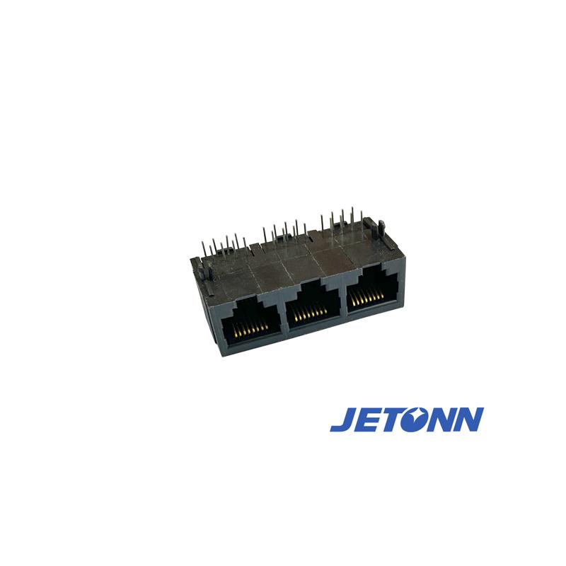 捷通電子_6P6C_樂清雙層網絡插座接連器廠家批發