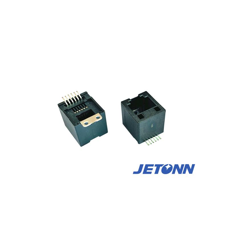 南京6P4C接連器代工_捷通電子_直通RJ45_以太網口