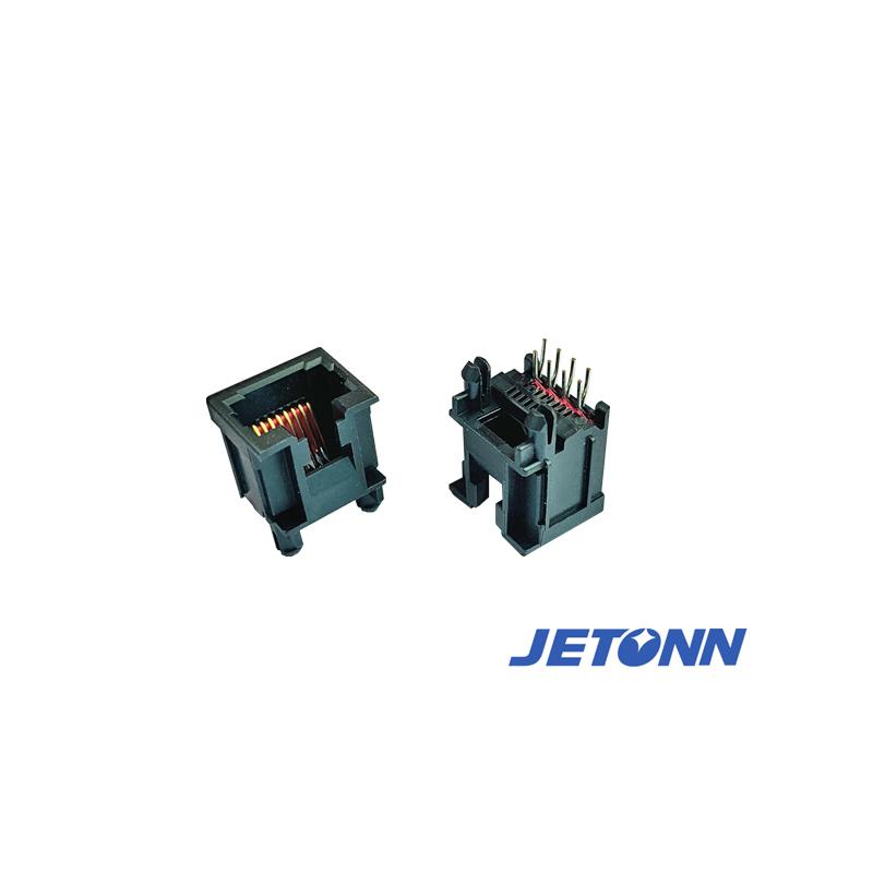 寧波超薄式網絡接連器加工_捷通電子_RJ45_圓形防水RJ45