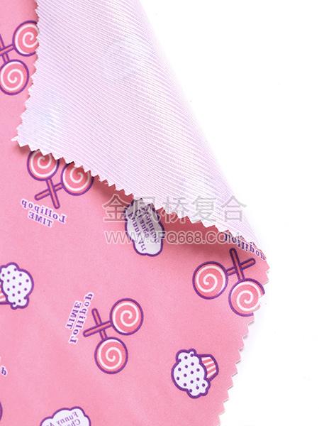 印花绸布复合亮条布