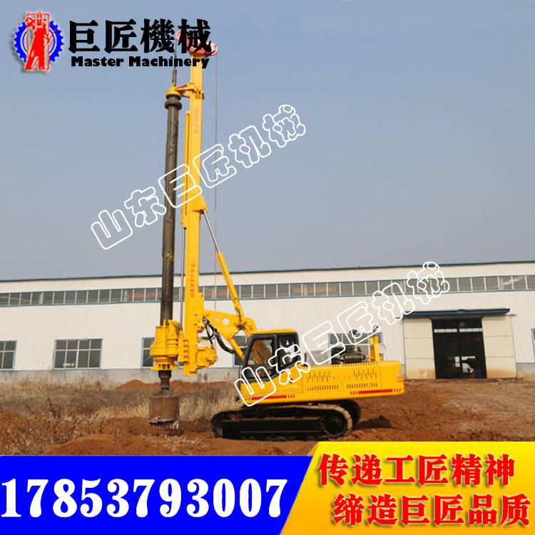 馬力十足 施工效率強勁 就用28米履帶機鎖桿旋挖鉆機