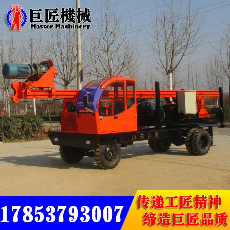 輪式長螺旋打樁機 回轉角度270° 廣泛用于建筑工程打樁