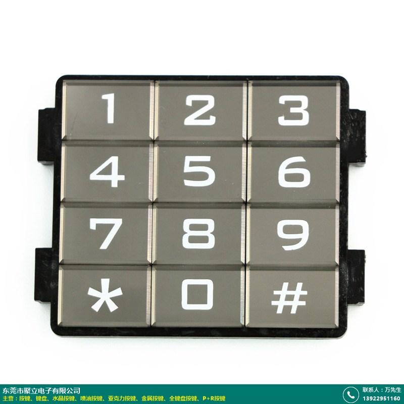 16字亚克力按键生产商_聚立电子_标准_POS机_16字_数字