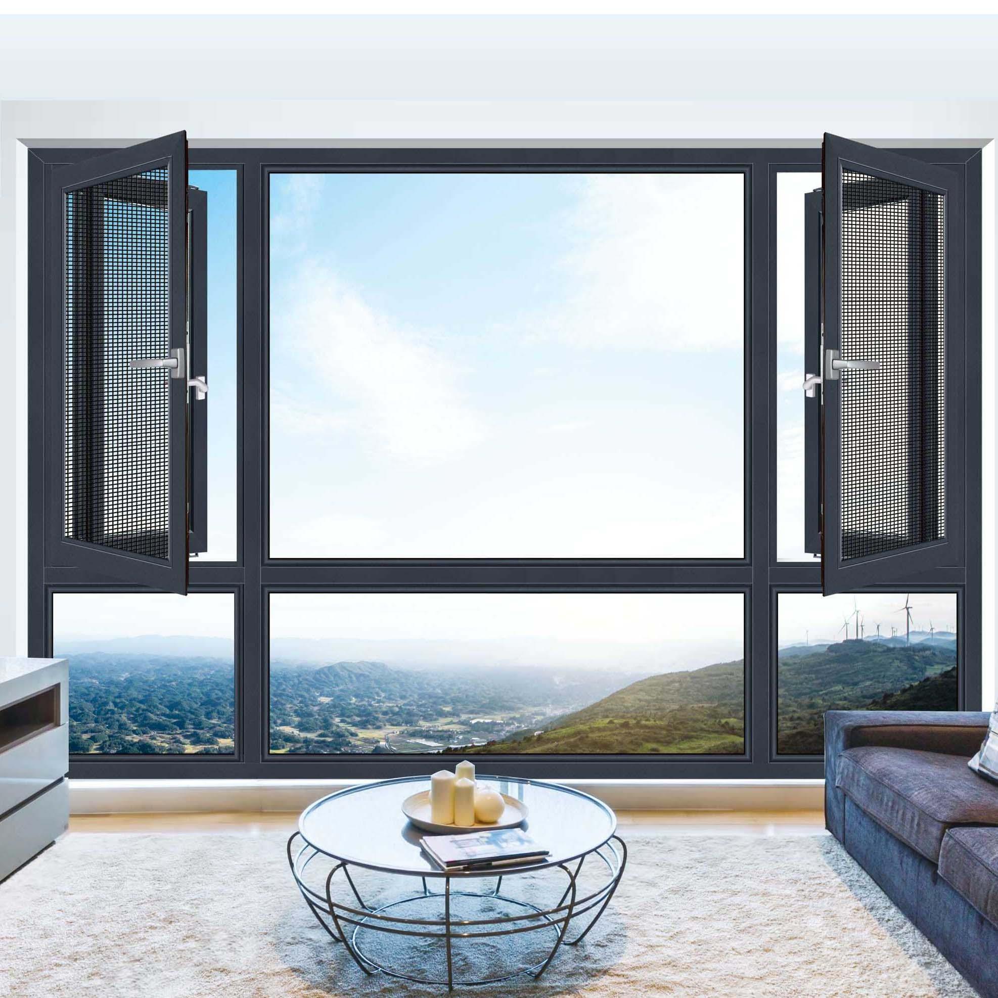 玻璃平开窗质量好_康洛斯门窗_幕墙_玻璃_断桥窗纱一体_滑撑