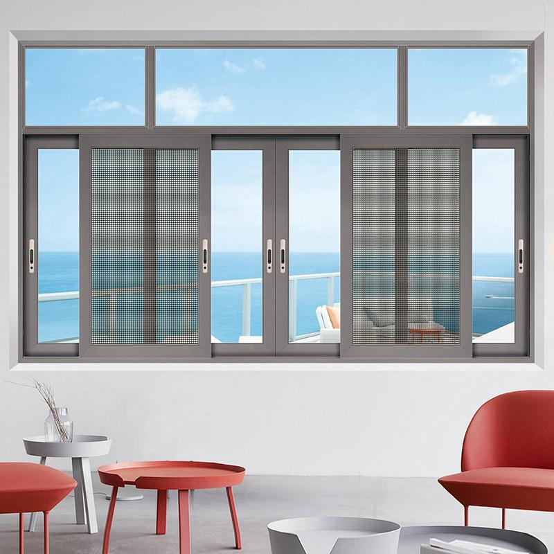 雙軌非斷橋推拉窗定做_康洛斯門窗_鋼化玻璃_防風_三軌_中式