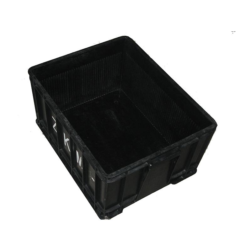 耐腐蝕防靜電周轉箱品質保證_科元防靜電_PP_加厚_黑色_無味