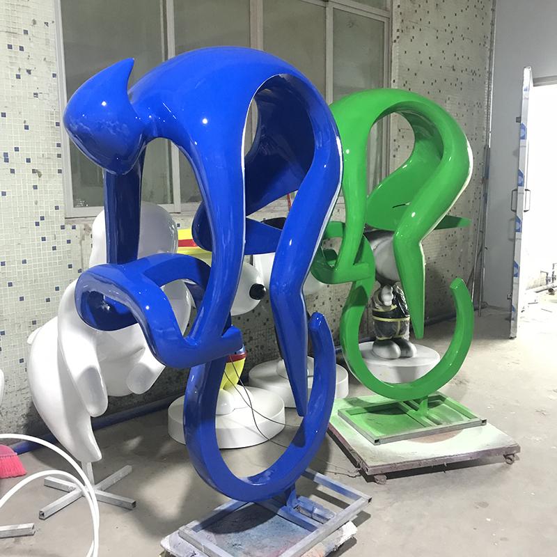 廣場運動雕塑報價_藍藝雕塑_現代_彩繪_校園_仿真_抽象_植物