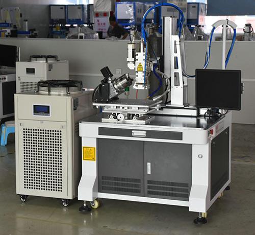 紫外光纤激光焊接机价格_正信激光_三通管_直缝_薄板_汽车配件