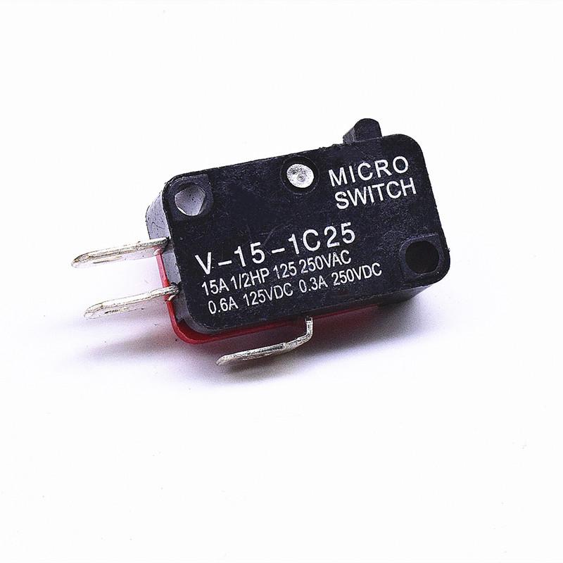 KW3-16-1C2(雙投型4.8H插片)-BR(殼體座黑 蓋紅)-G(黑色按柄)-進口-02