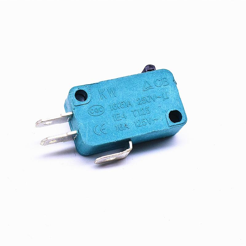KW3-16-1C2(雙投型4.8H插片)-GR(殼體全綠)-G(黑色按柄)