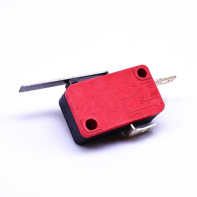 KW3-163-1A2(常開型4.8H插片)-BR(殼體座黑 蓋紅)-G(黑色按柄)