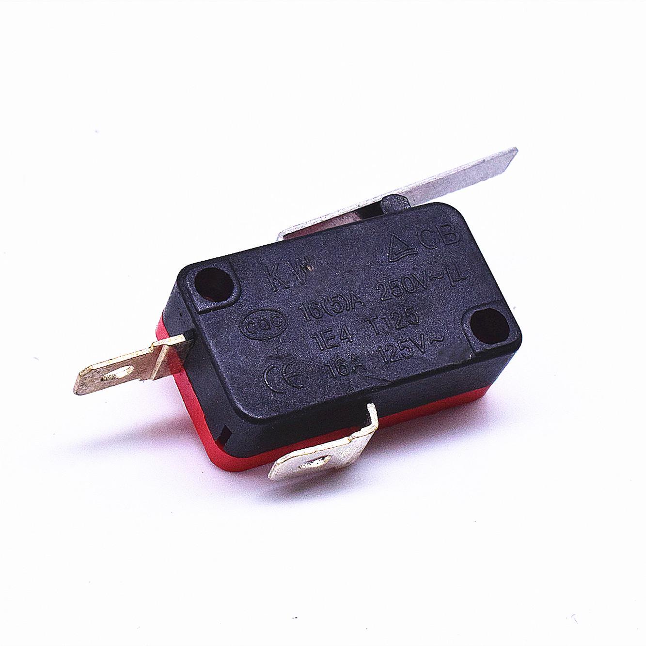 KW3-163-1A2(常開型4.8H插片)-BR(殼體座黑 蓋紅)-G(黑色按柄)-02
