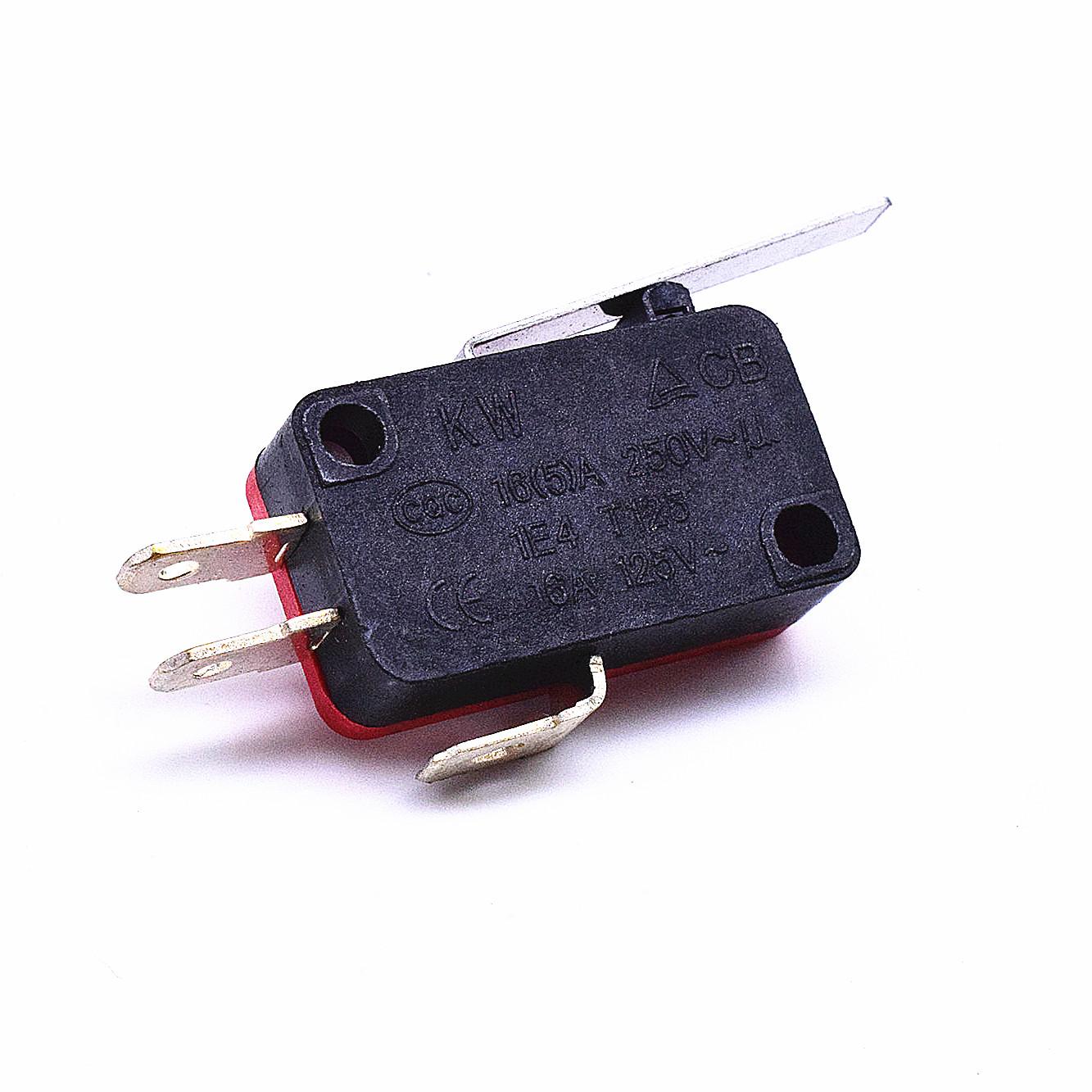 KW3-163-1C2(雙投型4.8H插片)-BR(殼體座黑 蓋紅)-G(黑色按柄)-01