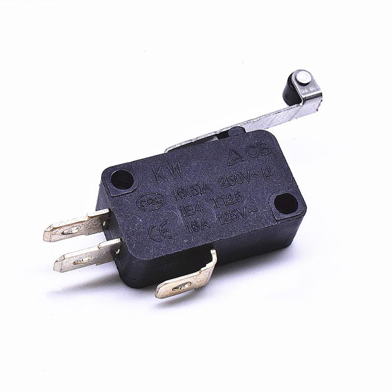 KW3-167-1C2(雙投型4.8H插片)-B(殼體全黑)-G(黑色按柄)-01