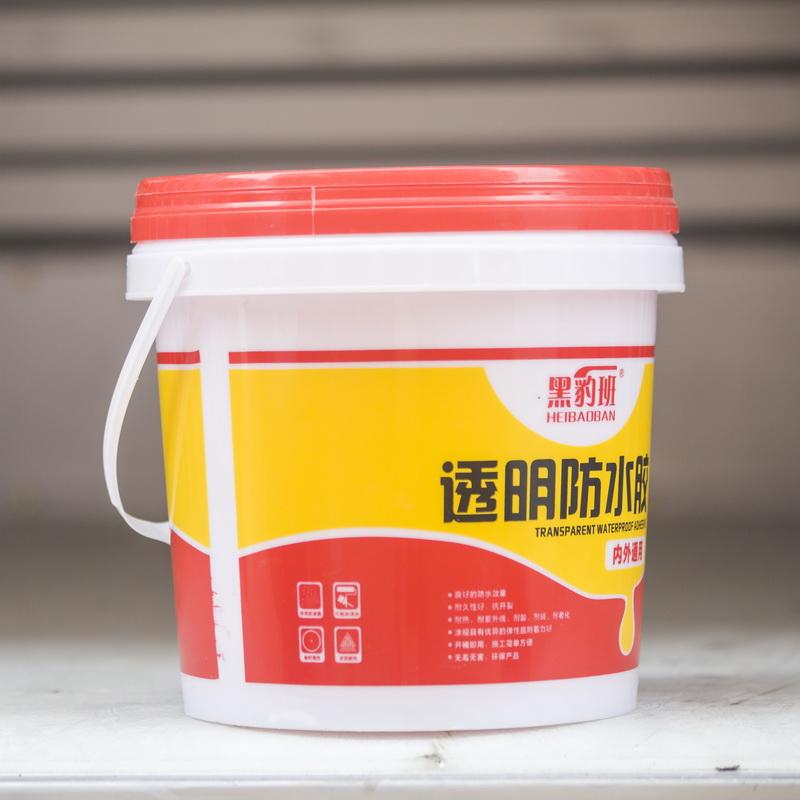 肇庆圆桶透明防水胶供应商_鲁公建材_免砸砖堵裂缝防水材料