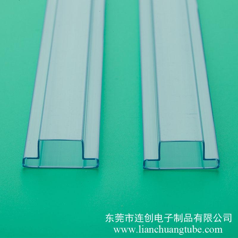 廠家直銷大功率帶鋁基板LED包裝管,PVC料管,LED吸塑管
