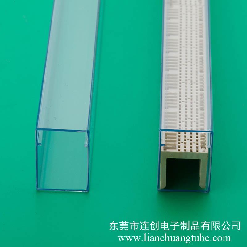 規格齊全連接器料管,新品供應透明PVC包裝管,質優價廉吸塑管