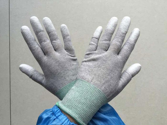 威海美安防靜電手套,美安防靜電涂指手套