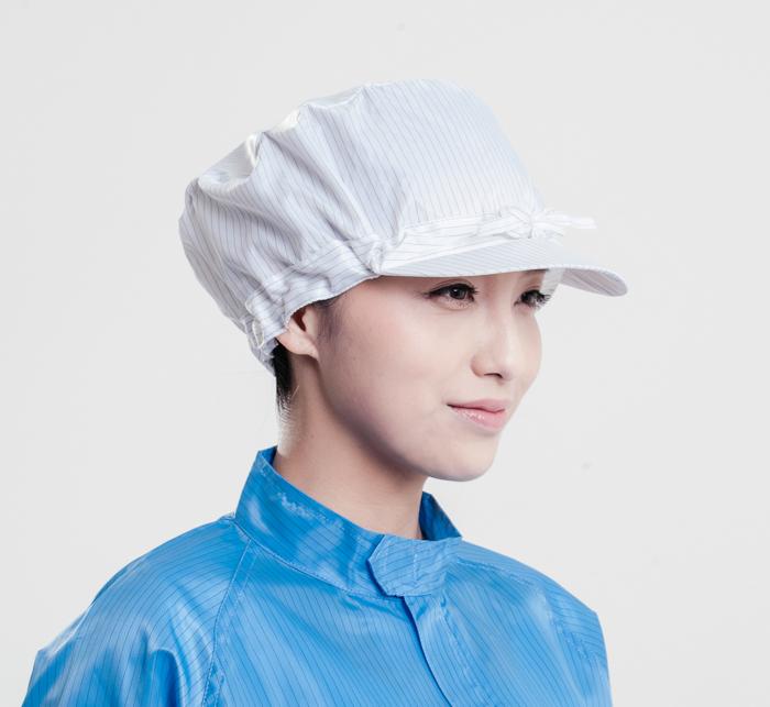 美安白色防静电小工帽,威海防静电帽子批发
