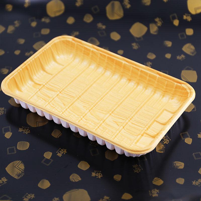 外卖生鲜托盘为什么需要_立洋包装_外卖_猪肉_寿司_寿司店用