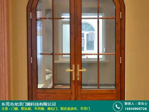 大嶺山雙扇門窗 鋁藝防盜 60系列隔熱斷橋 龍澤門窗