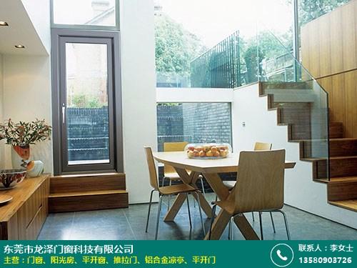 龍澤門窗_108窗紗一體_玻璃鋁合金門窗制造