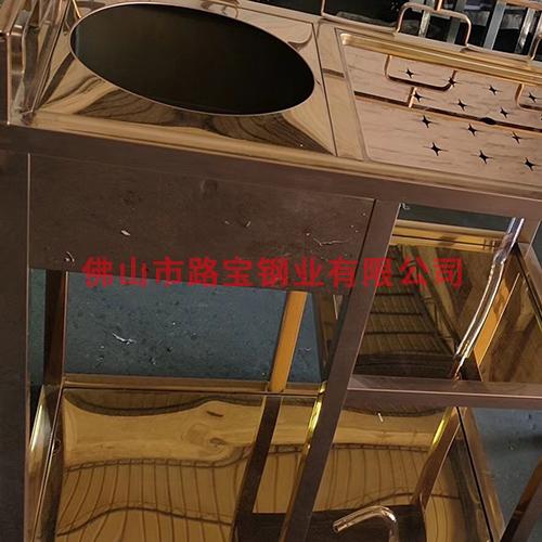 古铜色茶水车