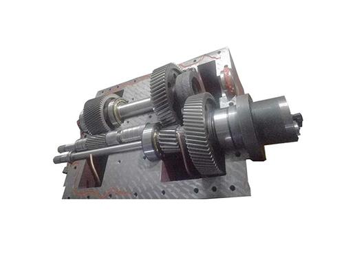 电缆双螺杆挤出机齿轮箱_路隆机械_60_木塑_水口料_积木式